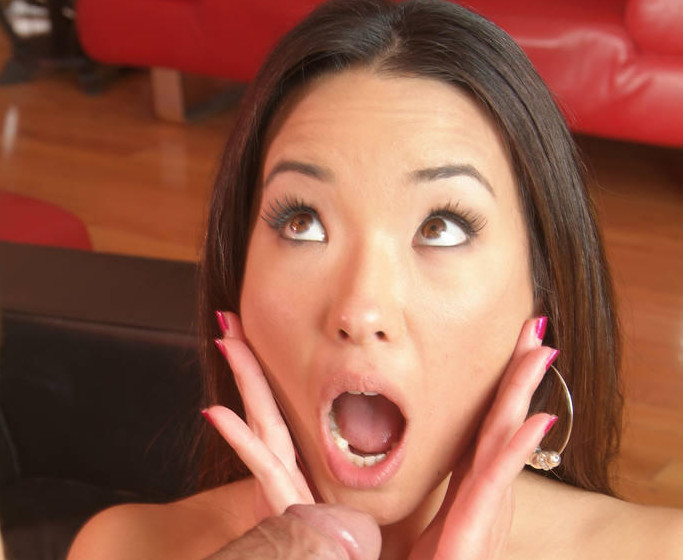 Pretty Asian gets a huge surprise