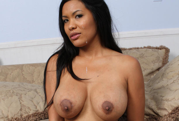 Big boobed Asian GF stripping