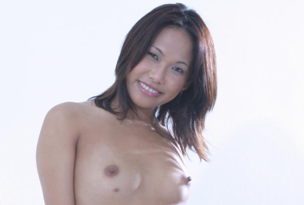 Exotic Asian strips to show her small tits